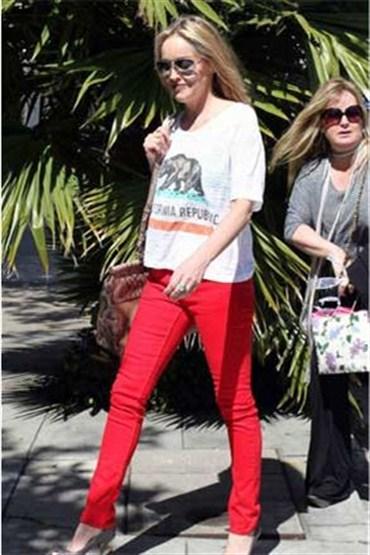 Renkli skinny jeanler